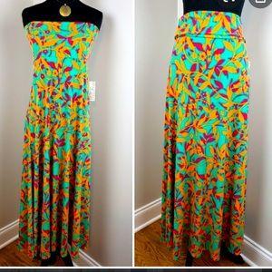 LuLaRoe Tropical Floral Maxi Skirt